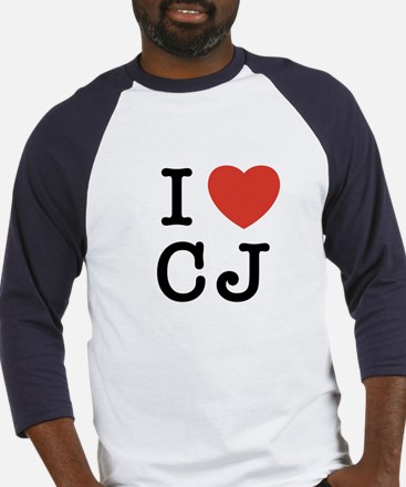 I Heart CJ Baseball Jersey