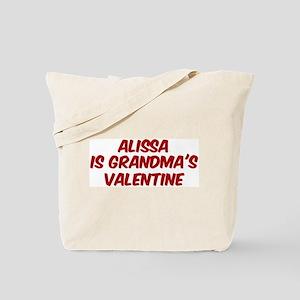 Alissas is grandmas valentine Tote Bag