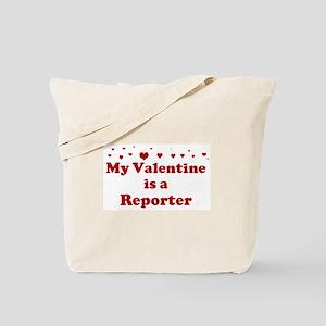 Valentine: Reporter Tote Bag