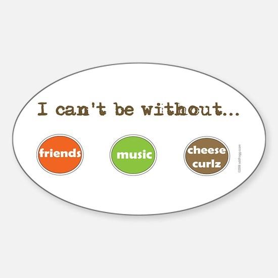 Friends Music Cheese Curls Bumper Oval Decal