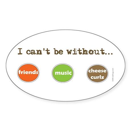 Friends Music Cheese Curls Bumper Oval Sticker