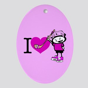 I heart Nancy Boys Oval Ornament