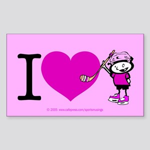 I heart Nancy Boys Rectangle Sticker