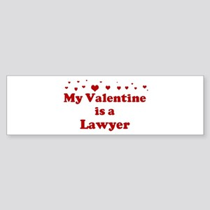 Valentine: Lawyer Bumper Sticker