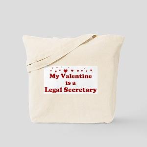 Valentine: Legal Secretary Tote Bag