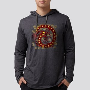 Red and Gold Dragon Long Sleeve T-Shirt