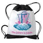 The future is female Drawstring Bag