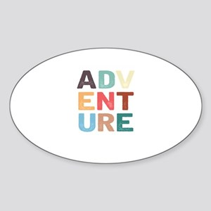Retro Adventure Typography Awesome Camping Sticker