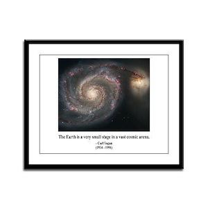 Carl Sagan A Framed Panel Print