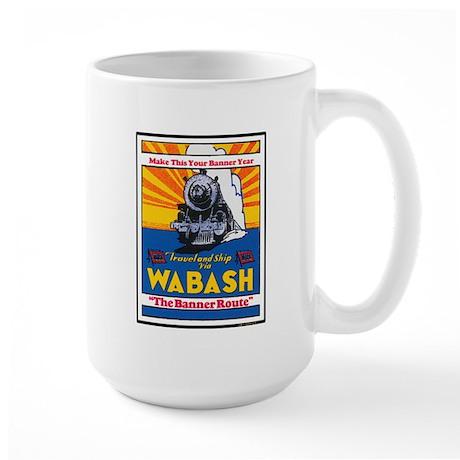 Wabash Train Large Mug