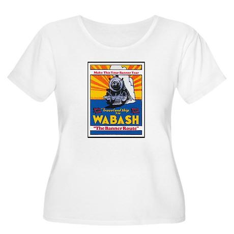 Wabash Train Women's Plus Size Scoop Neck T-Shirt