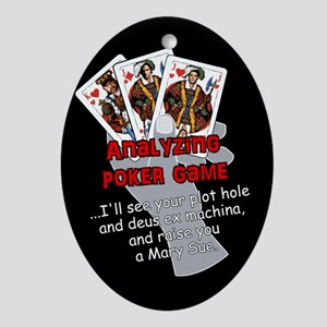Poker Oval Ornament