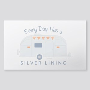 Silver Lining Sticker (rectangle)