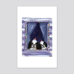 JAPANESE CHIN Christmas light Mini Poster Print