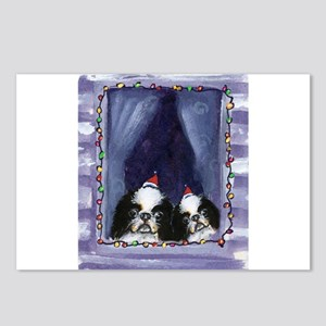 JAPANESE CHIN Christmas light Postcards (Package o