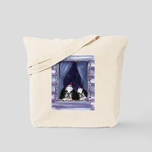 JAPANESE CHIN Christmas light Tote Bag