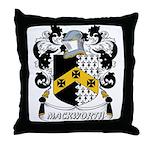 Mackworth Coat of Arms Throw Pillow