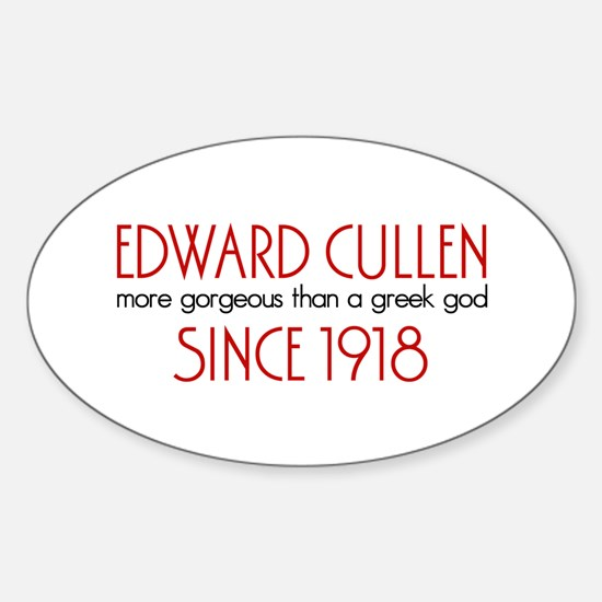 Edward - Greek God Since 1918 Oval Decal