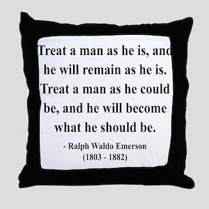 Ralph Waldo Emerson 16 Throw Pillow