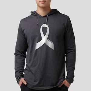 Lung Cancer Awareness Ribbon Long Sleeve T-Shirt
