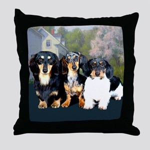 Sweet Doxie Group Throw Pillow
