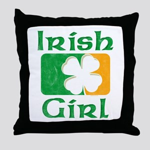 Irish Girl Throw Pillow