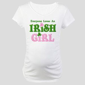 Loves An Irish Girl Maternity T-Shirt
