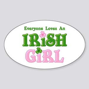 Loves An Irish Girl Oval Sticker