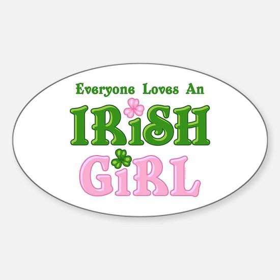 Loves An Irish Girl Oval Decal