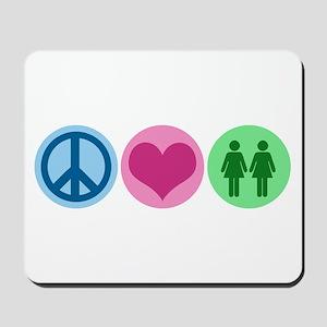 Peace Love Gay Mousepad