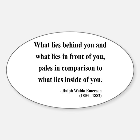 Ralph Waldo Emerson 11 Oval Decal