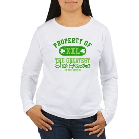 Property of Irish Grandma Women's Long Sleeve T-Sh