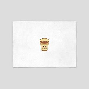 Cute Coffee Design 5'x7'Area Rug