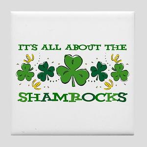 About The Shamrocks Tile Coaster