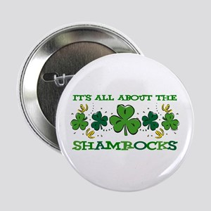 """About The Shamrocks 2.25"""" Button"""