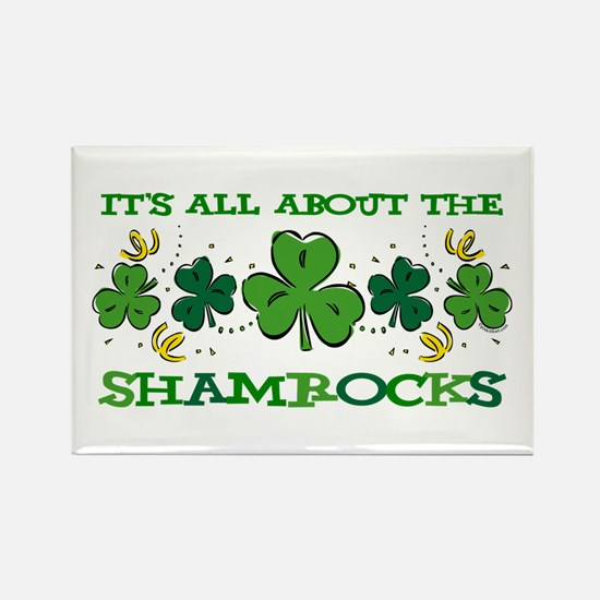 About The Shamrocks Rectangle Magnet