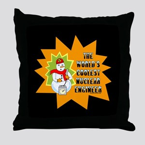 Coolest Nuclear Engineer Throw Pillow