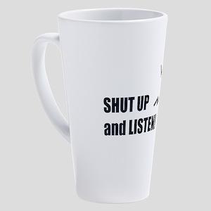 Microphone 17 oz Latte Mug