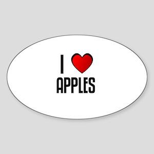 I LOVE APPLES Oval Sticker