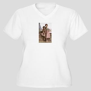 Bouguereau Women's Plus Size V-Neck T-Shirt
