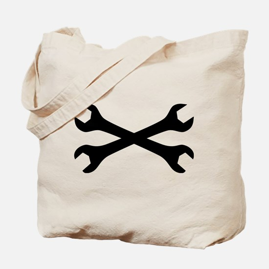 screw wrench crossed Tote Bag