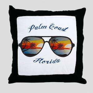 Florida - Palm Coast Throw Pillow