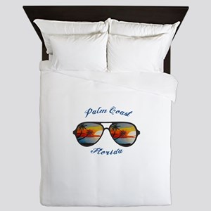 Florida - Palm Coast Queen Duvet