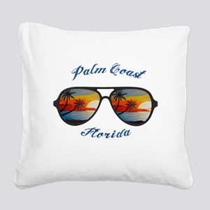 Florida - Palm Coast Square Canvas Pillow