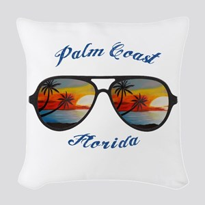 Florida - Palm Coast Woven Throw Pillow