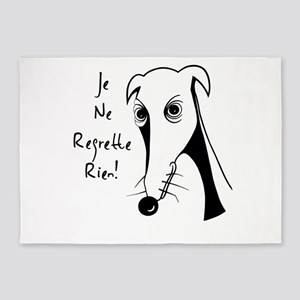 Whippet Regret Nothing 1 5'x7'Area Rug