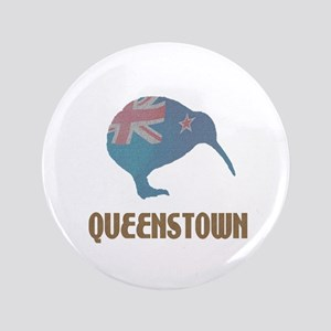 "Queenstown New Zealand 3.5"" Button"
