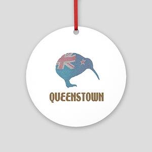 Queenstown New Zealand Ornament (Round)