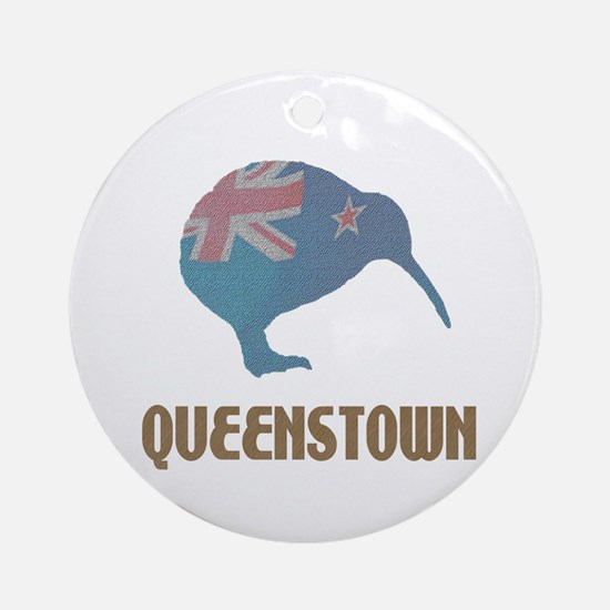 Queenstown New Zealand Ornament (Round)