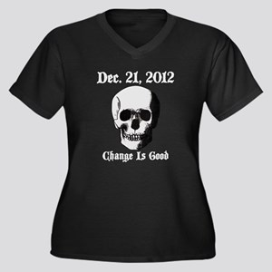 Dec 21 2012 Women's Plus Size V-Neck Dark T-Shirt